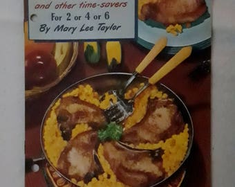One-Dish Favorites -- Adorable Radio Show Ads! -- 1951 -- FREE SHIPPING!