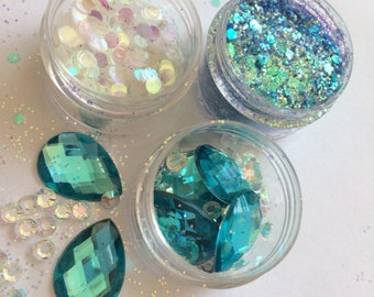 Aquamarine Mermaid Face Glitter Kit