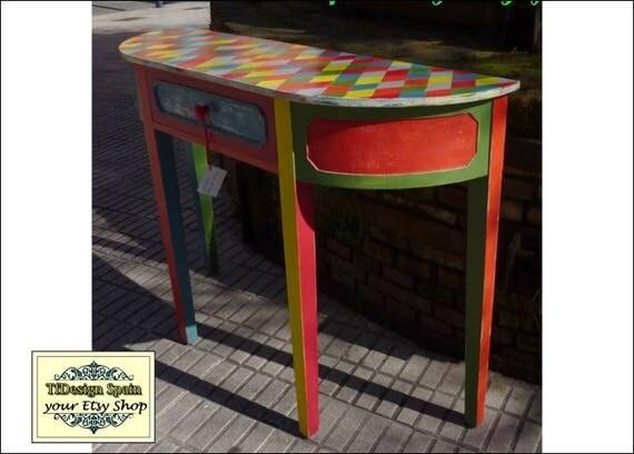 Consola de madera, Consola mueble, Consola alargada, Consola estrecha, Consola con cajón, Consola patas altas, Consola mueble recibidor