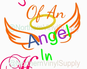 Rainbow Baby - Rainbow SVG - Big Sister of An Angel In Heaven - SVG Cut File - Baby Cutting File - SVG Cutting File - Rainbow Baby