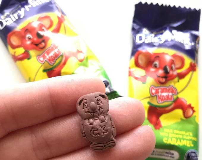 Chocolate Scented Caramello Koala Earrings, Pendant or Brooch - Classic Australian treat