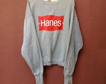 Sale Vintage Hanes Big Logo Spellout Sweatshirt
