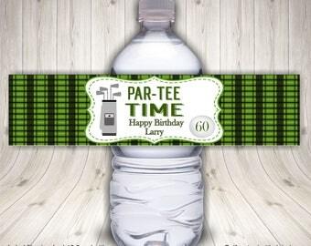 Water Bottle Label, Golf Water Bottle Label, Water Bottle Wraps, Birthday Labels, Golf Ball Labels, Golf Cart Bottle Labels, Retirement