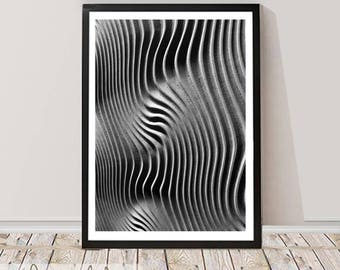 Black and White Abstract Wall Art, Home Decor, Printable Instant Download, Large Poster, Minimalist Modern Design, Scandinavian Decor
