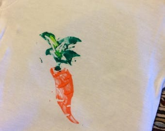 Carrot Stamp Onesie or Child's Tee