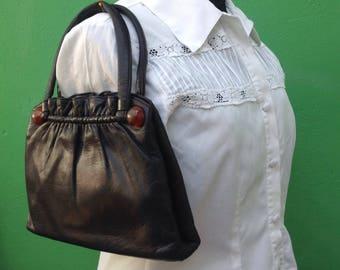 50s vintage bag/Handbag/50s//Vintage Handbag//Leather handbag//Made in Italy//50s Vintage handbag