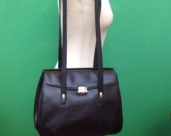 Made in Italy |90s Vintage Shoulderbag |Borsa in vera pelle martellata |90s vintage Bag |Vintage leather bag |Vintage Made in Italy