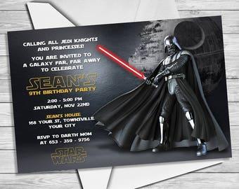 Star Wars Invitation - Star Wars Party Invitation- Star Wars Birthday Party Invite - Star Wars Party Printable- Darth Vader Invitation |SW_2