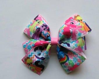 My Little Pony inspired hair bow, Pony headband, Character hair bow, My Little Pony baby headband, toddler hair bows, my Little pony party