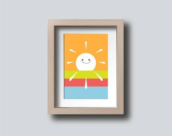 Summer Sun Printable