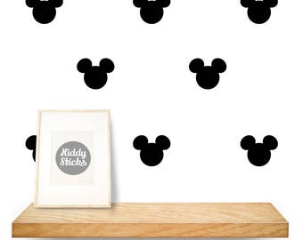 Mickey Mouse Shaped Confetti Wall Stickers / Decals   2 Sizes Available    FREE UK POSTAGE