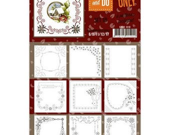 Set of 9 cards by coloring, 3D, trade cards set 10