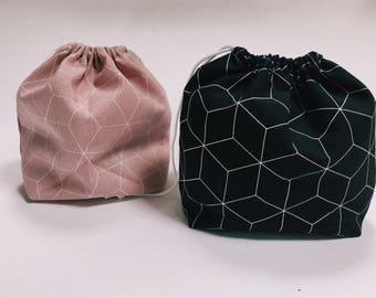 Little gym bag - toy bag - cotton bag - drawstring bag - lunch bag - kleine luiertas - luierhouder - gift bag - zwemtas