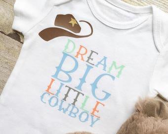 Baby Boy Onesie,Newborn Onesie,Little Cowboy Onesie,Newborn Clothes,Baby Clothes,New Mom Gift,Baby Shower Gift,Boy Clothes,Boy Shirts