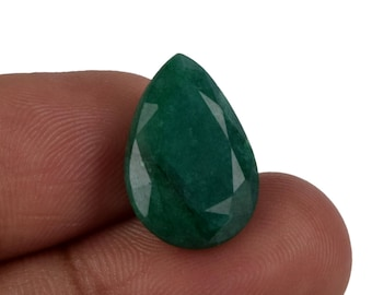 8.50 Ct. Perfect Pear Cut Natural Colombian 16 x 11 mm Green Emerald Loose Gemstone For Ring, Pendant, Jewelry Online Sale AU-011