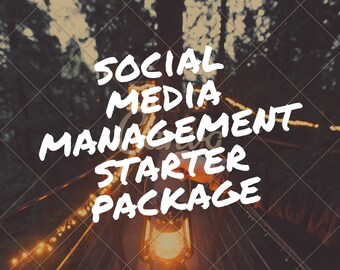 Reserved listing: Social media management starter package, audit and management for ONE month of one social media account.