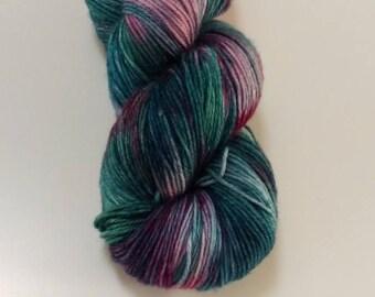 SALE Hand Dyed Yarn Cashmerino, Merino, Cashmere, 4 ply, 100g - Tea in the Rose Garden