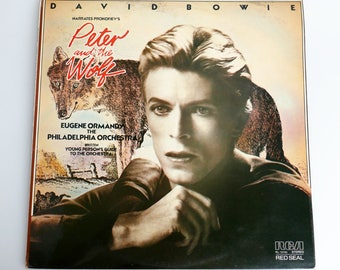 """David Bowie - Prokofiev's 'Peter And The Wolf' 12"""" Vinyl Record"""