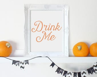 Halloween Digital, Halloween Art, Halloween Party Sign, Halloween Props, Drink Me Sign, Printable Halloween, Haloween, Halloween Wall Art