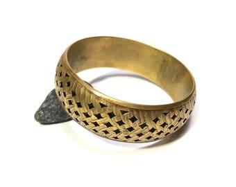 Brass Bangle, Vintage Brass Bangle, Vintage Bangle, Boho Bangle, Hippie Bangle, Vintage Bracelet, Vintage brass openwork bracelet bangle
