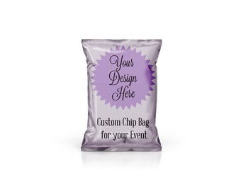 Custom Chip Bag - Treat Bag - Favor Bag - With Picture - Personalized