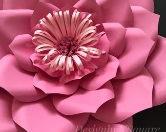 Paper flower template / Digital template / template#3 / DIY Flower decor/ wall decor