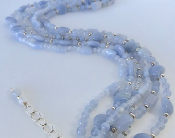 Necklace Silver Blue