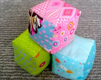 Fabric Baby Blocks, Soft Baby Blocks, Baby Shower Gift, Baby Toy, Plush Baby Toy