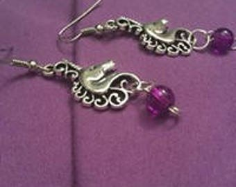 EARRINGS--Unicorns/Beads--Hooks/Small To Medium Charms/Beads--(Fairy Tale/Fantasy Collection)
