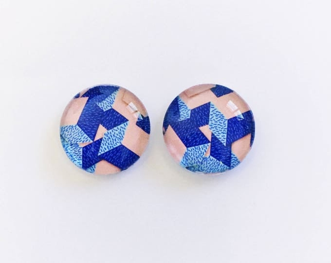 The 'Walk The Line' Glass Earring Studs