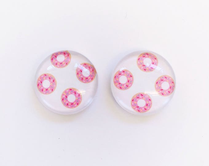 The 'Donut Time' Glass Earring Studs
