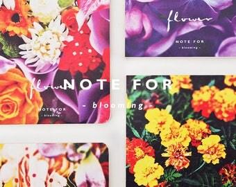 Blossom Notebook Collection | Colorful Floral Pattern Notebook | Blooming Flowers  Planner | Designer Sketchbook | Artist Travel Notebook