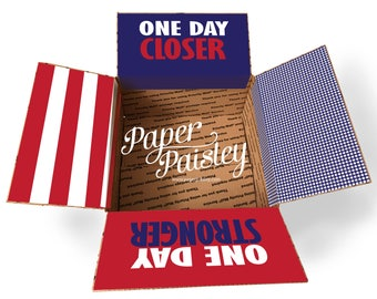 Care Package Sticker Kit - One Day Closer/Military Care Package/Deployment Care Package/Patriotic Care Package/Missionary Care Package/