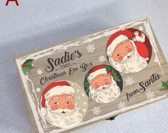 Personalised Christmas Eve Box, Wooden Christmas Box, Christmas Box, Christmas Eve Box