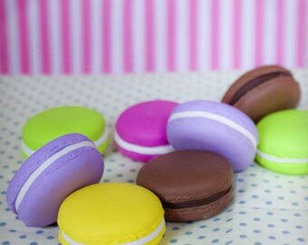 10 x 30g Colourful Macaron Pattern Weights | Great Sewing Gift for Birthdays | Handmade with Polymer Clay by Oh Sew Quaint |