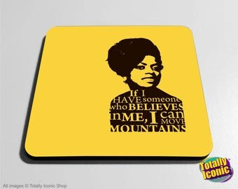 Diana Ross inspired - Drinks Mats Coasters- Iconic Character Singer with quote  - Great Xmas Gift Idea