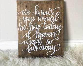 Remembrance Wedding sign | If heaven wasn't so far away sign | Rusting Wedding Sign