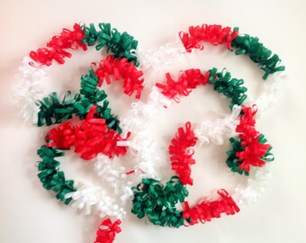 Mexican Garland Plastic Banner Reusable Red White and Green (20 yds Approx.) All  Occasion