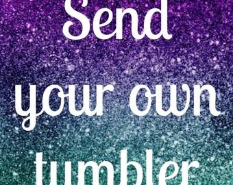Send me your tumbler/Glittered Ozark Trail Tumbler/Ozark/RTIC/Glitter dipped tumbler/Glittered Yeti/Glittered Ozark/Travel mug/Yeti