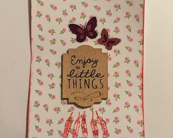 Enjoy the little things art card