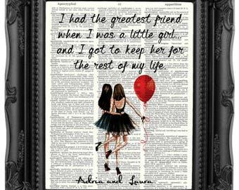 Sister Gift Christmas Gift Sister Personalized Gift from Sister for Sister Gift Sister Birthday Gift Personalized Sister Quote Art Print 203