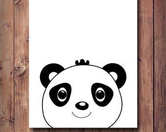 65% OFF Baby Panda Print, Nursery Wall Art, Nursery Print, Nursery Decor, Baby Panda Art, Scandinavian Print, Baby Panda Poster, Black Panda