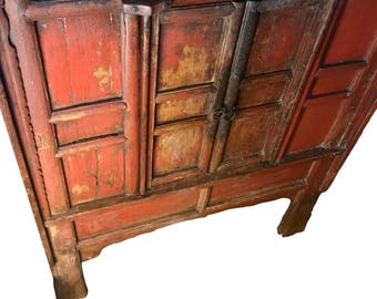 17th Century Mongolian Armoire.