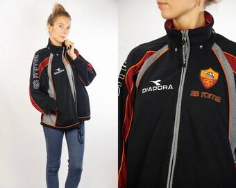 Diadora Shell Jacket / Diadora Windbreaker / Diadora Track Jacket / Diadora Jacket / Diadora Tracksuit / Diadora / 90s Shell Jacket