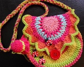 Colorful girl purse