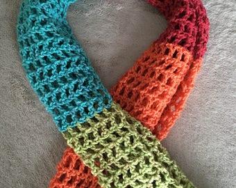 Colorful Loose-Stitch Scarf