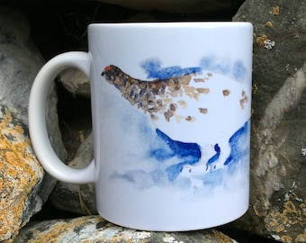 Mug Partridge from the snow or ptarmigan