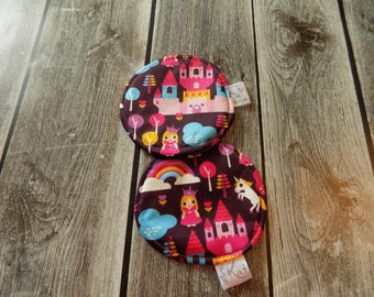 Washable nursing pads, Maternity, Reusable Breasts pads, Princess