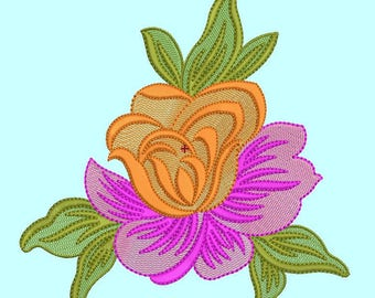 Flower Machine Embroidery Design, flower embroidery pattern,rivermill embroidery, paadarclub
