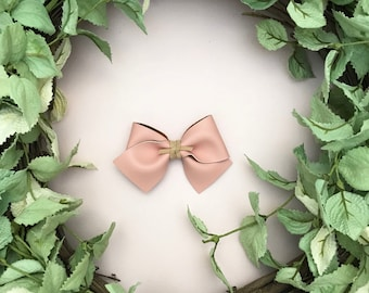Blush Pink Faux Leather Bow {ALICE style} - Easter - Easter 2018